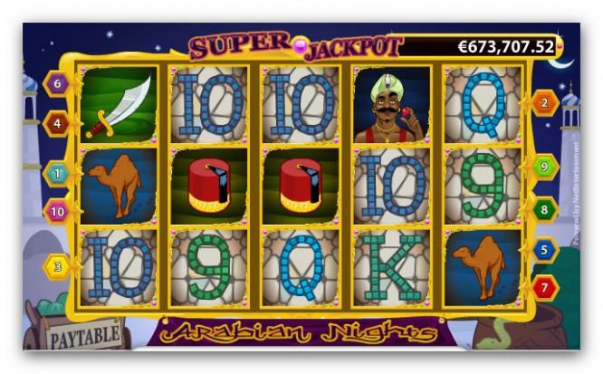 Automat Arabian Nights w Casino Euro