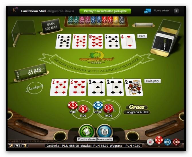 Kasyno ComeOn - poker karaibski