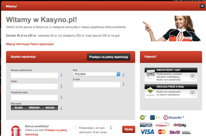 Kasyno.pl - rejestracja_Recenzja_KasynoRankingCOM