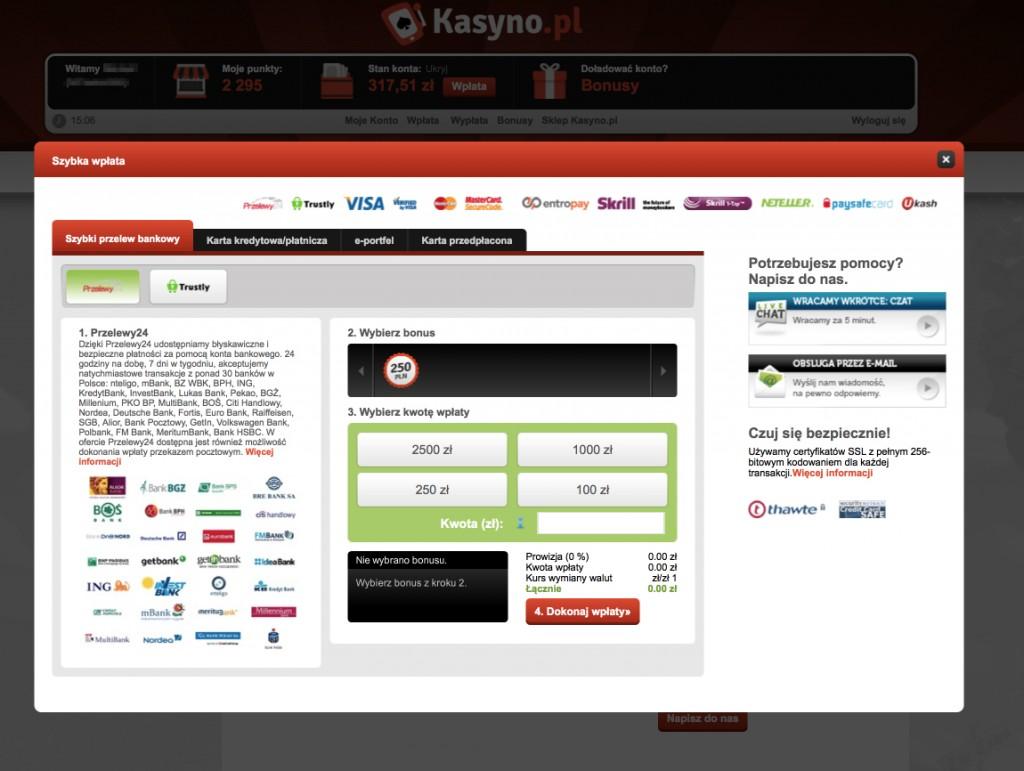 Kasyno.pl - wplaty i wyplaty_Recenzja_KasynoRankingCOM