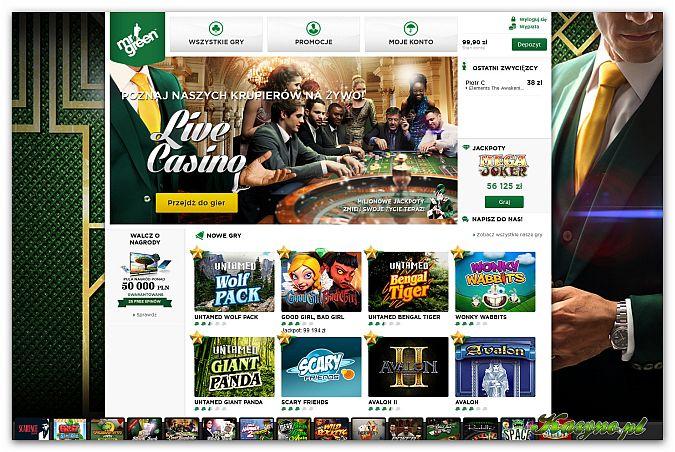 Lobby Główne kasyna Mr Green