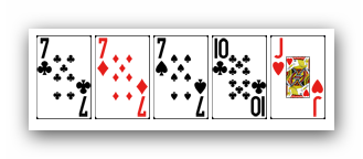 Ranking ukladow w pokerze - trojka