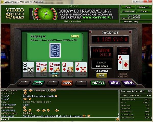 Nowy video poker 2 Wild w kasynie wirtualnym Casino.pl