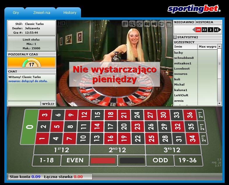 gra w europejskie kasyno ruletkę bez rejestracji za darmo