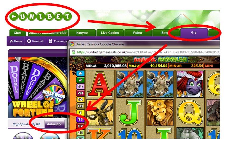 Gdzie znaleźć automat MegaMoolah w kasynie Unibet